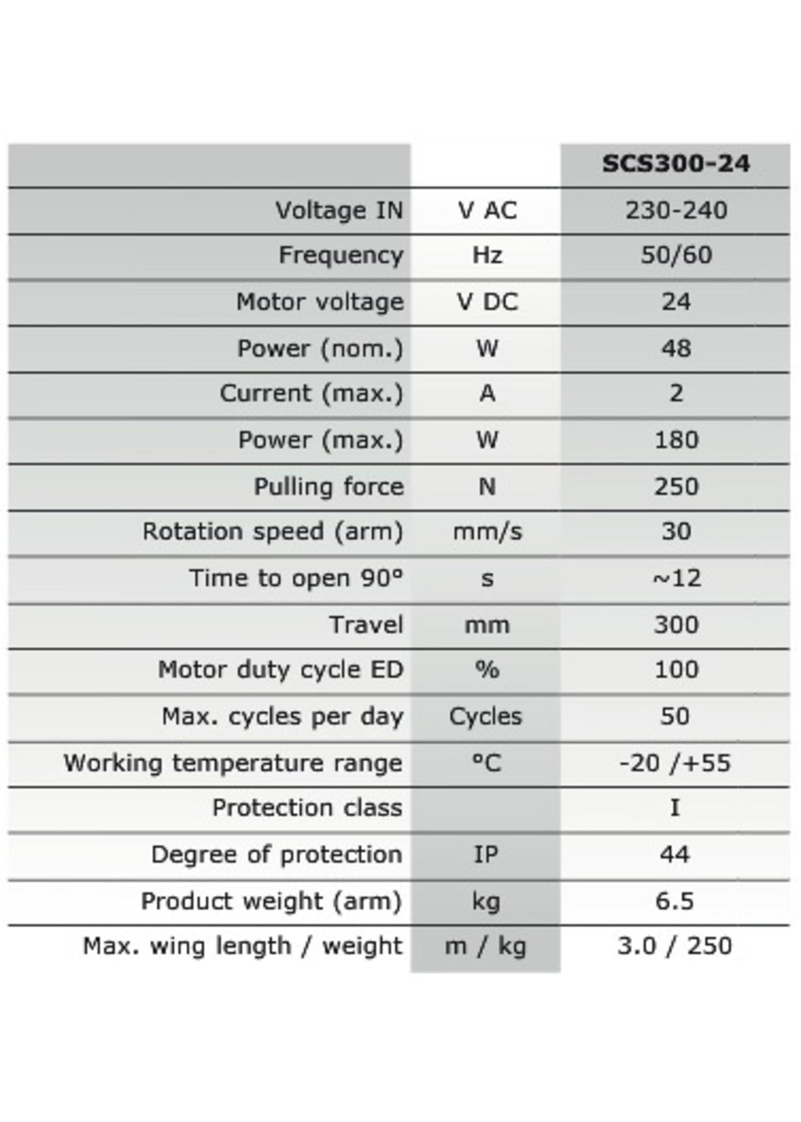 Liftmaster SCS324BK-EV Poortopener kit voor vleugelpoorten SCS300-24