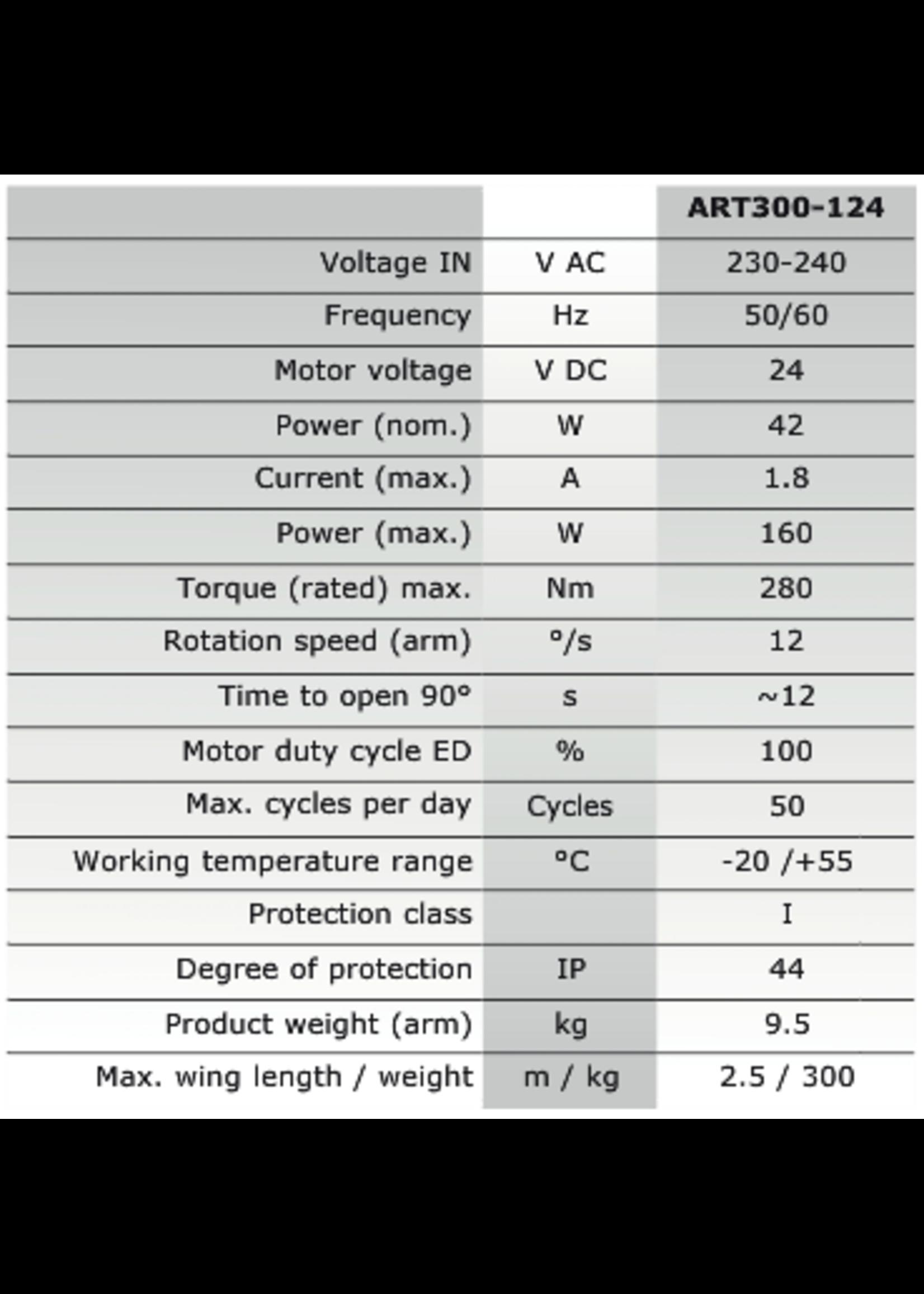 Liftmaster ART300K 230V Knikarm poortopener kit voor vleugelpoorten
