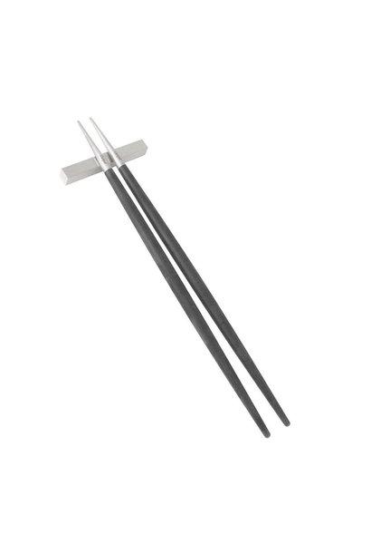 Goa Chopsticks Black / Stainless steel 3 pcs
