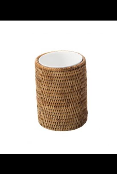 Verre Porcelaine Rotin Edo Set 2pcs