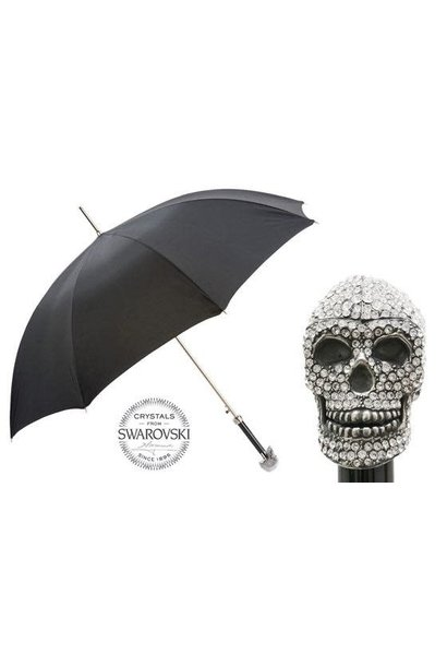 Parapluie Crâne Swarovski Noir