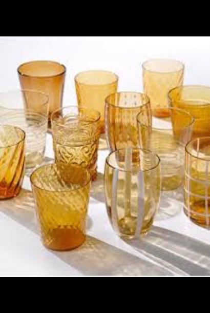 Amber Glasses Set 6pcs