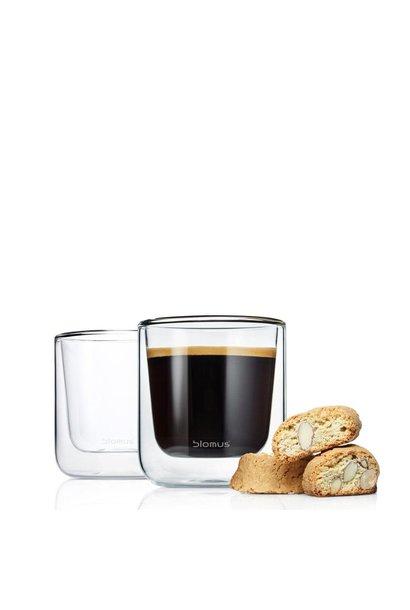 Nero Set Espresso Glasses Set 2pcs