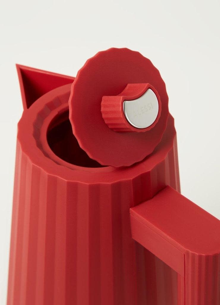 Red Plissé Kettle 1L-3