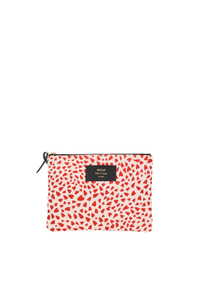 Large White Hearts Clutch