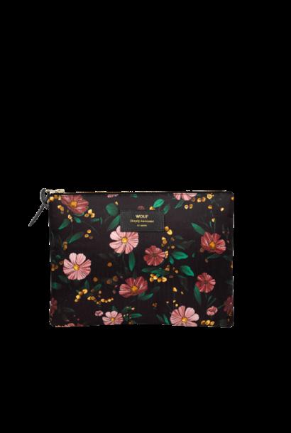 Pochette Black Flowers XL