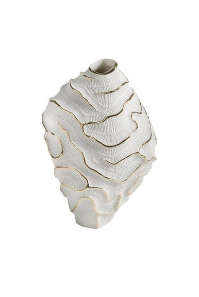 Vase Fossilia White Platinum 25x20x34cm