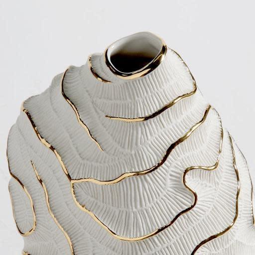 Vase Fossilia White Platinum 25x20x34cm-3