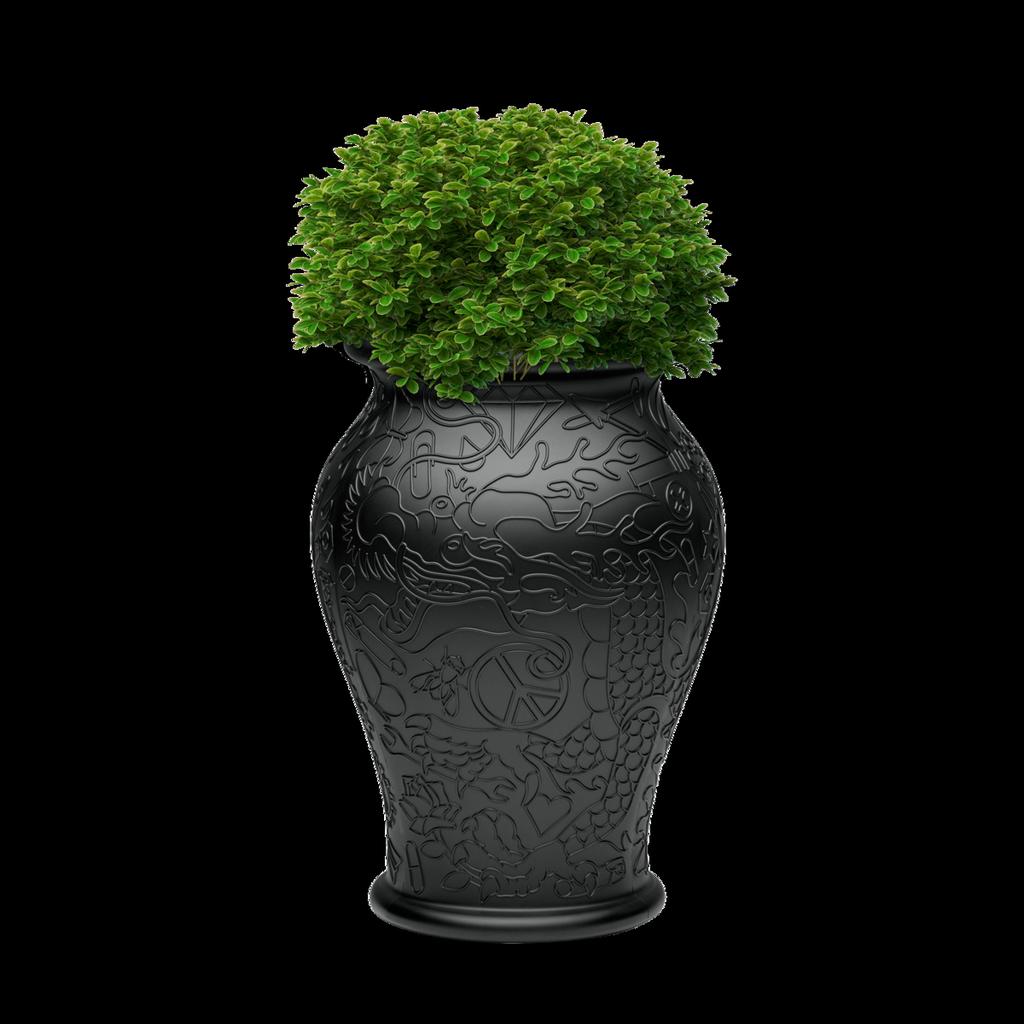 Vase Ming Black-1