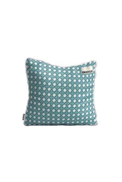 Cushion Cannage Emeraude 45x45cm