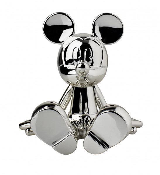 Mickey Sitting Chrome Silver 12cm-2