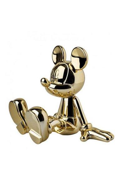 Mickey Sitting Chrome Gold 12cm