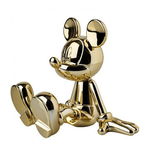 Mickey Sitting Chrome Gold 12cm-1