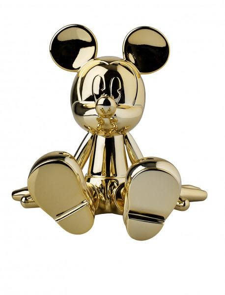 Mickey Sitting Chrome Gold 12cm-2