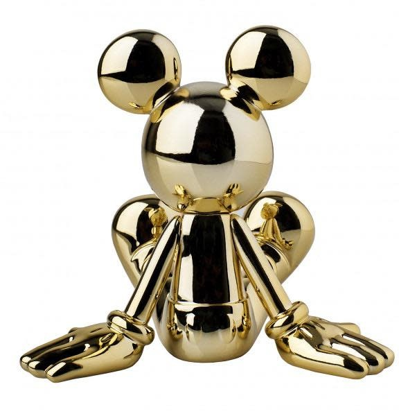 Mickey Sitting Chrome Gold 12cm-3