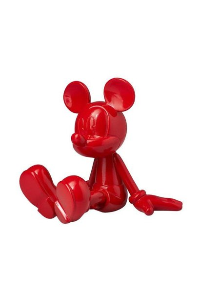 Mickey Seated Lacquer Red 12cm
