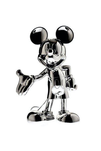 Mickey Welcome Chromé Argent 30cm