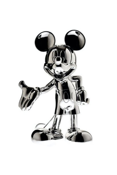 Mickey Welcome Chrome Silver 30cm