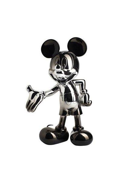 Mickey Welcome Dégradé Argent/Noir 30cm