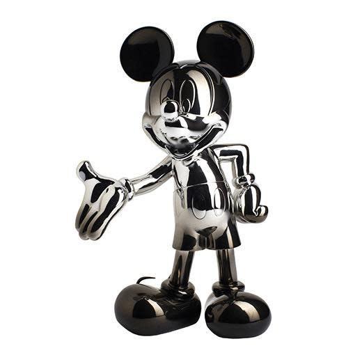 Mickey Welcome Dégradé Silver / Black 30cm-1