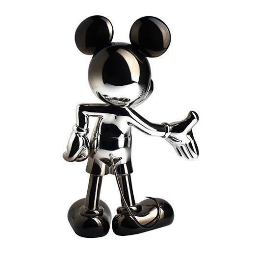 Mickey Welcome Dégradé Silver / Black 30cm-3