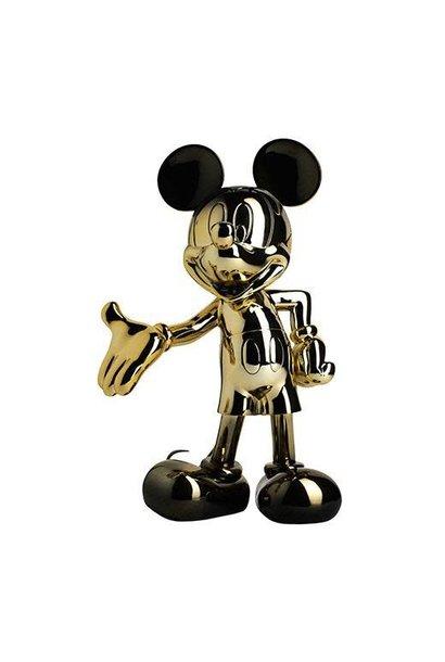 Mickey Welcome Dégradé Or/Noir 30cm