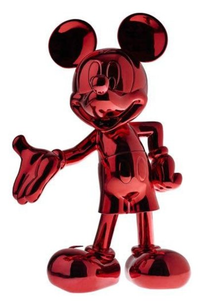 Mickey Welcome Rouge Chrome 30cm