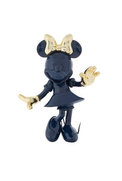 Minnie Welcome Bicolore Bleu/Or 30cm