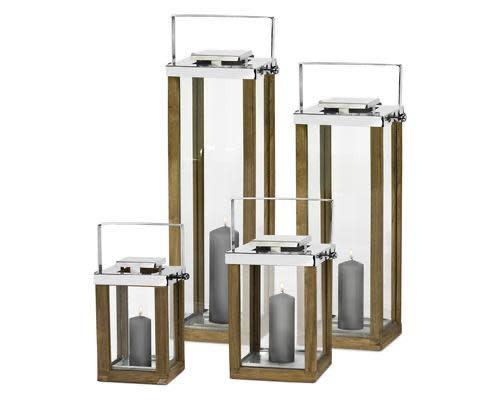 Madeira Lantern 31x31x60cm-3