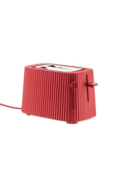 Red Resin Pleated Toaster