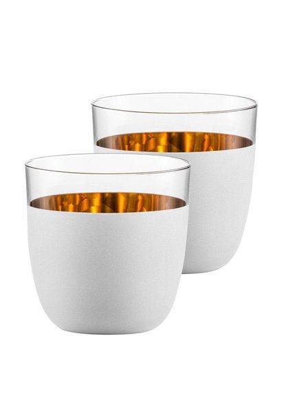 Verres Cosmo Gold Blanc Set 2pcs