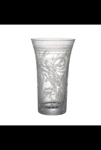 VERSACE Arabesque Vase Verre 26cm