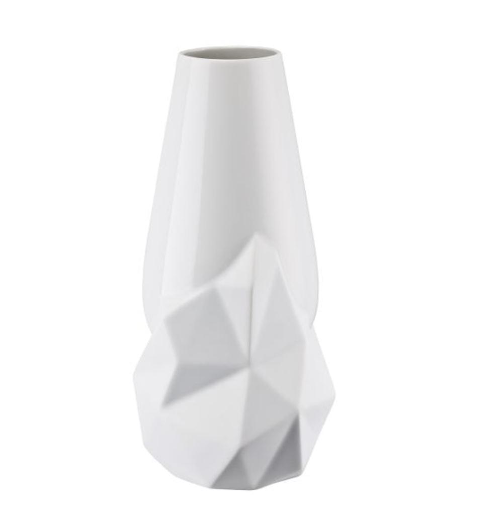 Vase Geode Weiss 27cm-2
