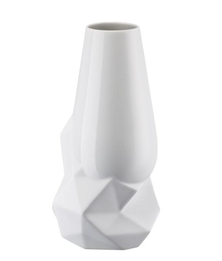 Vase Geode Weiss 27cm-3