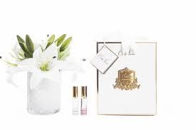 Herringbone Flowers Lily Vase Clear-1
