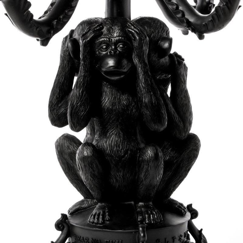 Chandelier Giant Black Chimpanzee-3
