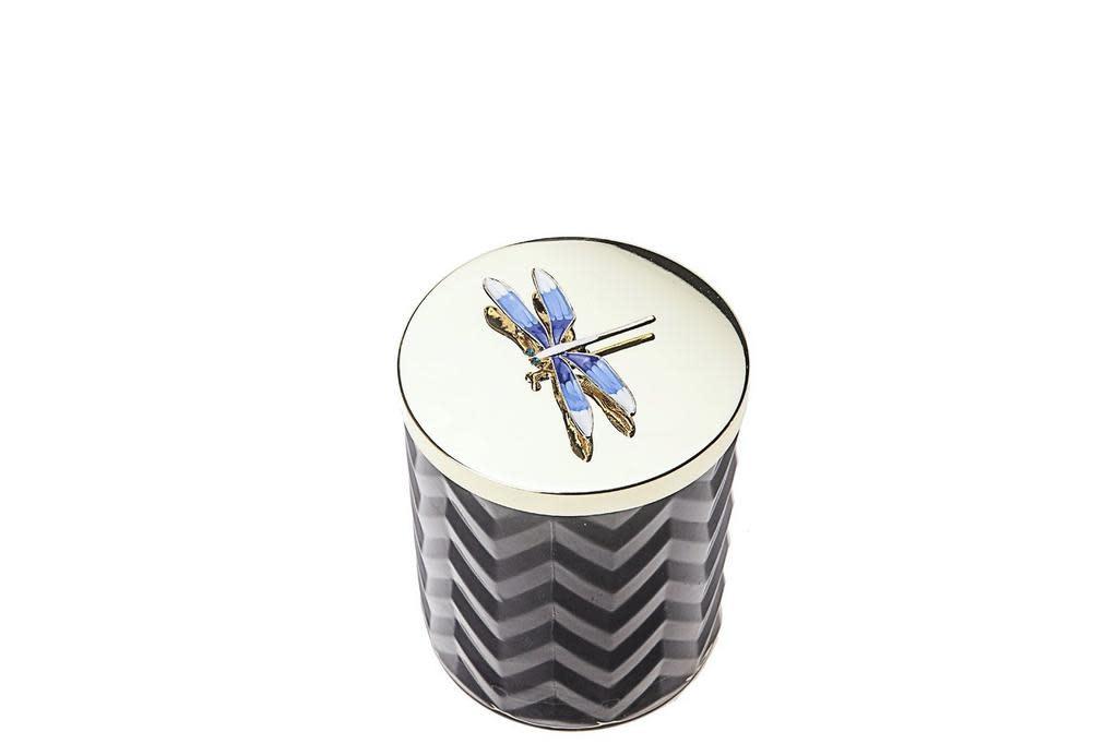 COTE NOIRE - Candle Herringbone Blue Scarf-3