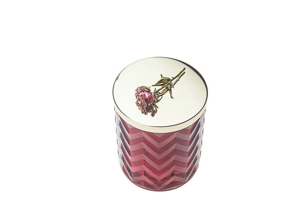 COTE NOIRE - Candle Herringbone Red Scarf-3