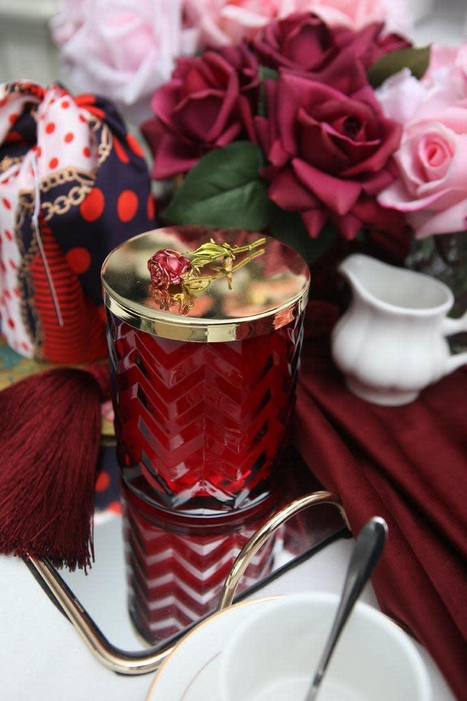 COTE NOIRE - Candle Herringbone Red Scarf-4