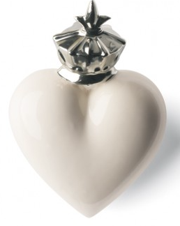 Heart Mitter White and Silver-1