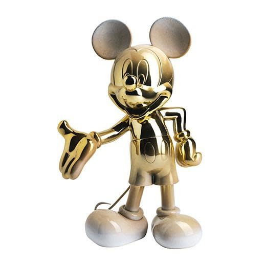 Mickey Welcome Gold & White 30cm-1