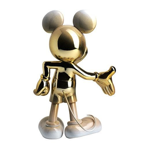 Mickey Welcome Gold & White 30cm-3