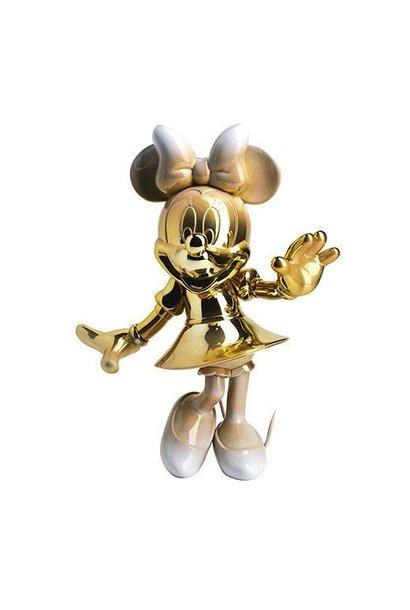 Minnie Welcome Or & Blanc 31cm