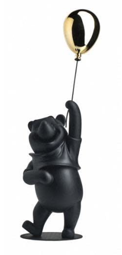 Winnie L'Ourson Noir & Chrome 52cm-1
