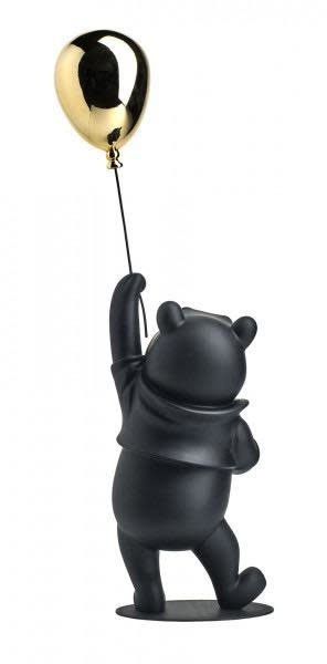 Winnie L'Ourson Noir & Chrome 52cm-3