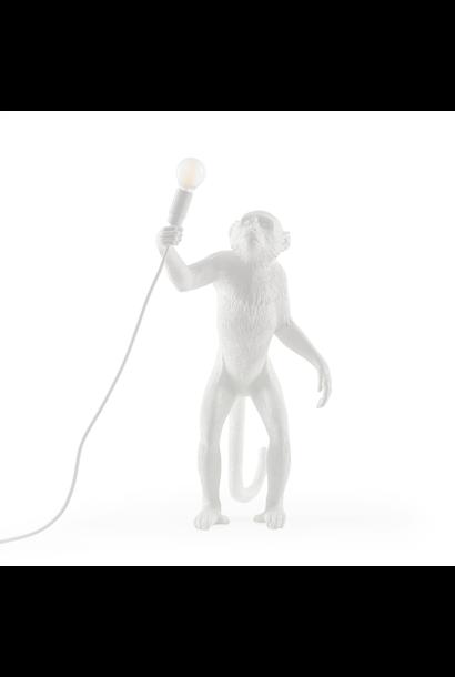 Lampe Singe Blanc Debout H.54cm