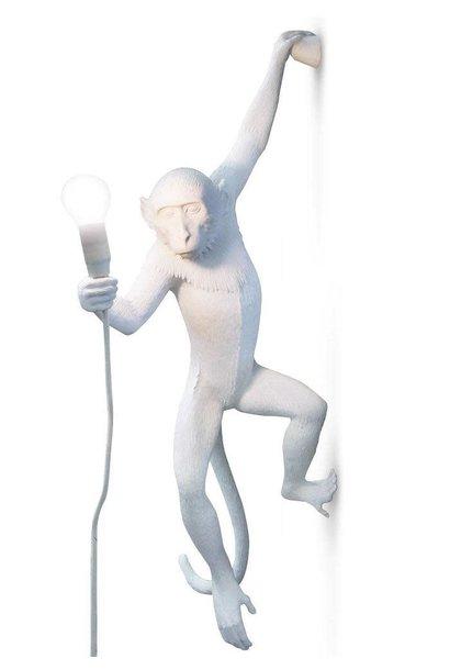White Monkey Lamp H.76cm