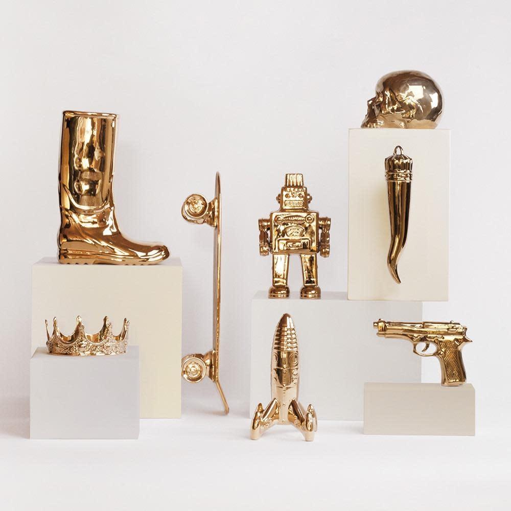 SELETTI - Limited Gold My Skull-5