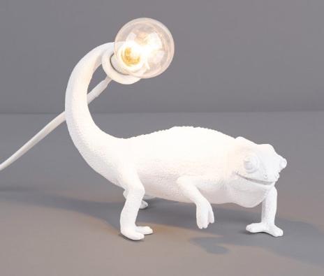 White Chameleon Lamp-2