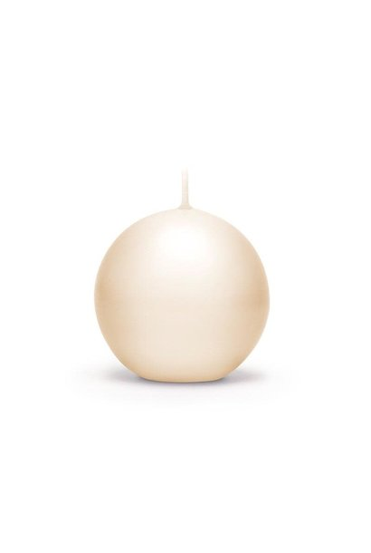 Candle Ivory Lacquered Sphere D.7.5cm